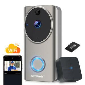Campark WiFi Doorbell Video Door Ring Camera Security Bell 1080P HD Night Vision