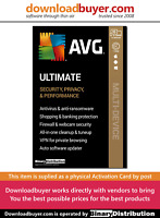 AVG Ultimate 2020 with Secure VPN - 10 Devices - 1 Year [Activation Card]