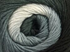Primadonna Black White Grey Ice 45312 Fine Baby Self-Striping Wool Acr Yarn 100g