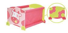 Kinder Spielzeugkiste Stapelkiste Kuh rosa Holz I m Toy