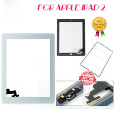 For iPad 2 White Touch Screen Digitizer Replacement+Mid Frame Bezel&Home Button$