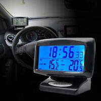 Indoor outdoor Car LCD Digital Thermometer Temperature Meter Clock Probe Sensor