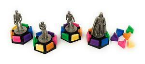 4x Star Wars Pewter Tokens (from Trivial Pursuit Classic Trilogy Edition 1997)