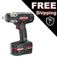 "Craftsman C3 1/2"" Cordless Impact Gun Wrench Kit 4Ah 19.2 V XCP Battery"