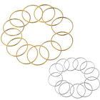 20 Anneaux Rond Pour Boucle d 'Oreille Collier Bijoux Accessoire DIY M4539