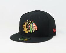 New Era 59Fifty Cap Mens NHL Hockey Stanley Cup 5x Chicago Blackhawks Black Hat