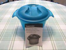 TUPPERWARE MICROWAVE STEAMER RICE COOKER 3 PIECE SET #6451 Blue,Green 2.2 liter