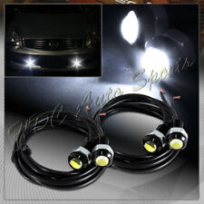 4 X Universal 18MM 9W 12v White LED Eagle Eye DRL Daytime Running Lights Lamps