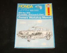 Haynes Repair Manual 297 Honda Civic 1975-79