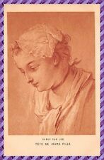 Tarjeta Postal - CARLE VAN LOO - Cabeza de Joven niña