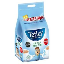 TETLEY DECAF ONE CUP 440 TEA BAGS 1KG CATERING WHOLESALE LARGE BAG 179156