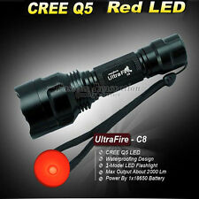 1 Model UltraFire CREE 18650 2000 Lumens C8 LED Flashlight Torch Lamp Red Light