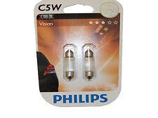 Philips C5W Visión 36mm Luz Placa Matrícula 12V 5W 12844B2 Festón