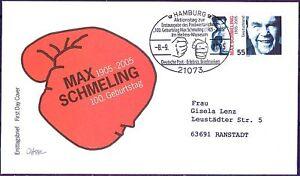 Frg 2005: Max Schmeling! FDC Der No 2489! Special Postmark Hamburg! Used! 21-02