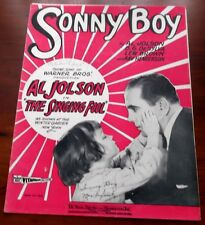 Sheet Music Sonny Boy  Al Jolson The Singing Fool 1927 DeSilva,Brown & Henderson