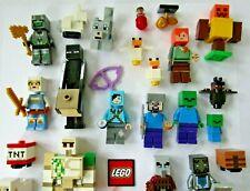 Lego Minecraft - Choose Minifigure Steve, Alex, Kai, Creeper, Pillager, Enderman