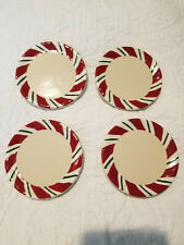 Longaberger Peppermint Twist Candy Cane Christmas Coasters Set 4