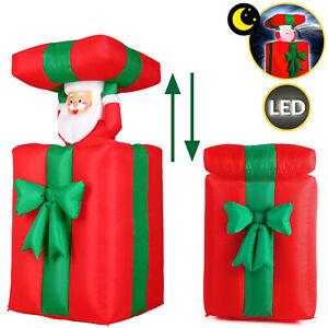 aufblasbarer Weihnachtsmann 152cm LED beleuchtet Weihnachten Geschenk Deko Figur