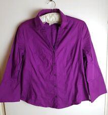LAURA ASHLEY Stunning Purple Long sleeved Blouse Shirt  UK 16