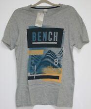 B9. Bench T-Shirt mit Motiv Größe S  Grau  Neu mit Etikett