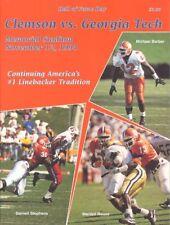 1994 CLEMSON v GEORGIA TECH FOOTBALL PROGM (DARNELL STEPHENS, MICHAEL BARBER CV+
