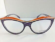 New ALAIN MIKLI A03041C003 52mm Purple Cats Eye Women's Eyeglasses Italy