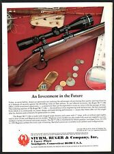1982 RUGER  M-77 M77 Rifle PRINT AD