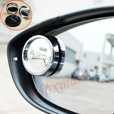 2PCS Vehicle Accessories Rear View Blind Spot Mirror Round Fit Wide Angle Convex