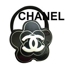 100% AUTHENTIC RARE CHANEL CAMELLIA Flower VIP HAIR ELASTIC PONYTAIL & WRISTBAND