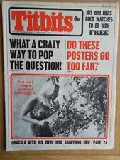 Titbits Magazine February 1969 - DRACULA Article - Judy Garland - SIVI ABERG