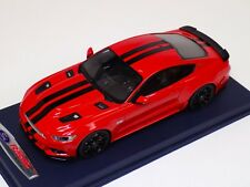 1/18 GT Spirit Ford Mustang Shelby GT in Red Black Stripes GT149 Blue Leather