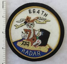 664th RADAR SQUADRON US AIR FORCE Bullion PATCH Custom Made for USAF VETERANS