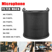 Studio Microphone Filter  Recording Mic Shield Wind Screen Windscreen Black