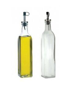 Glass Oil Vinegar Bottles Drizzlers Dispenser Pourer Set 500ml Italian Cooking