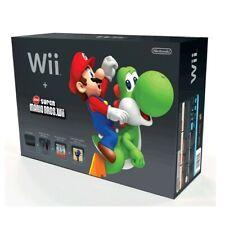 Nintendo Wii Console Black Super Mario Bros System Case *EMPTY RETAIL BOX ONLY*