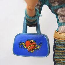 Blue Handbag Purse with Heart motif for Barbie My Scene Doll Fashion Accessory