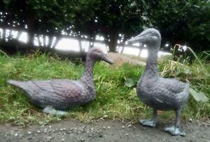 Ducks Birds Aluminium Garden Statues Ornaments Bronze finish