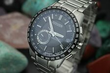 Men's CITIZEN Eco-Drive Satellite Wave GPS F150 Stainless Steel Watch w/ Box Ppr