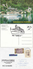 AUSTRIAN RIVER CRUISE SHIP MS GOISERN A SHIPS CACHED COVER & CACHED POSTCARD