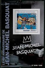 CENTRAL AFRICA 2015 55th BIRTH OF JEAN-MICHEL BASQUIAT  PAINTINGS S/S  MINT NH