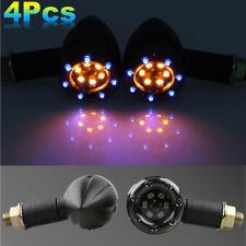 4x LED SMD Motorcycle Turn Signals Light Blinker Amber+Blue Indicator Front Rear