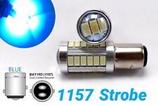 Strobe Front Signal 1157 2057 3496 7528 BAY15D P21/5W 33 LED Bulb Blue M1 MA