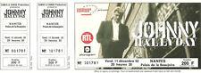 RARE / TICKET BILLET DE CONCERT - JOHNNY HALLYDAY LIVE A NANTES ( FRANCE ) 1992