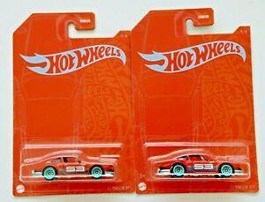 Hot Wheels '71 Porsche 911 #4 Orange & Blue 53rd Anniversary 4/6 - Lot of 2
