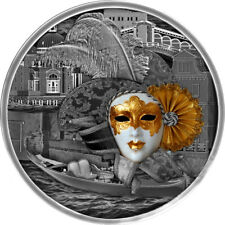 Niue Island 2019 5$ Venetian Mask High Relief 2oz Silver Coin