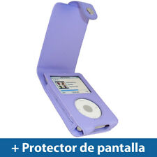 Violeta Funda Cuero Eco-Piel para Apple iPod Classic 80/120/160GB Carcasa Case