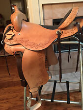 "TN Saddlery 16"" Gaited Western ""Sharp tail"" Saddle Natural"