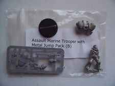 WARHAMMER 40K NEW ASSAULT MARINE TROOPER-B . METAL MODEL with METAL JUMP PACK,