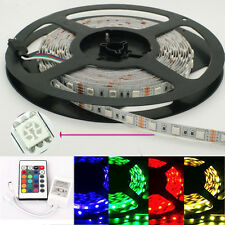 5M 5050 RBG LED Light Strips 300 leds 12v Non waterproof + 24KEY LED Controller