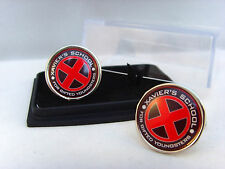 X MEN XMEN XAVIER'S SCHOOL RED MENS CUFFLINKS CUFF LINKS GIFT
